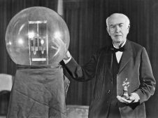 Thomas Edison And His Big Bulb